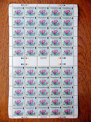 SOLOMON ISLANDS Wholesale 1992 Orchids 70c SG749 Sheet of 50 SALE PRICE FP2528