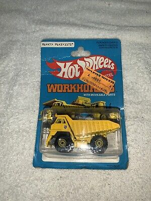 Vintage Hot Wheels Workhorses CAT Caterpillar Dump Truck new in package 1980