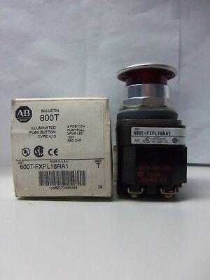 New Allen Bradley 800t-fxpl16ra1 Illum. Red Mainte-stop Push Button 120v Nib