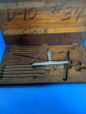 Starrett Depth Micrometer 445 0-9 Range 6 Base Kit Made In Usa