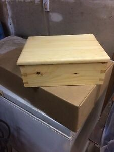 Handmade Dovetail Box with Hinged Lid