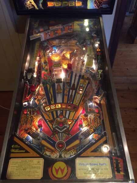 Pinball machine Police Force | Collectables | Gumtree Australia