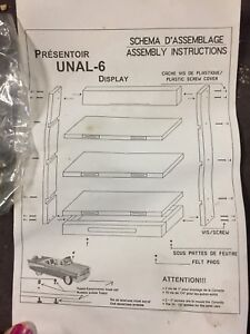 Display shelf for model cars