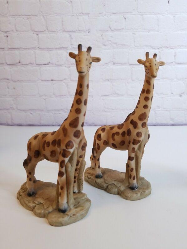 Vintage Lot of 2 Fine Porcelain Giraffe Figurines