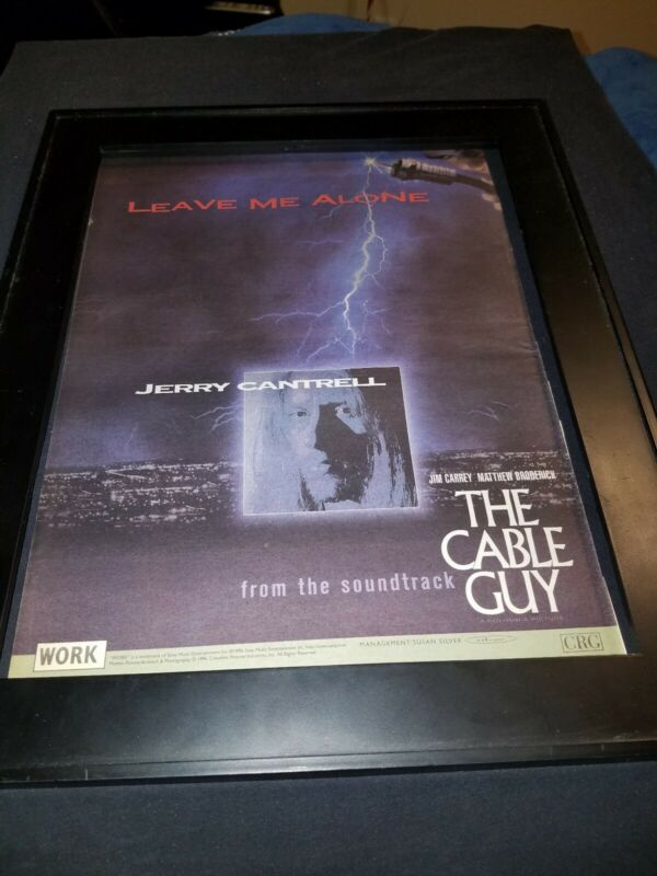 Jerry Cantrell Leave Me Alone Rare Original Radio Promo Poster Ad Framed!