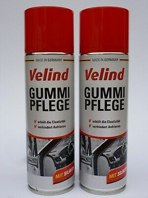 (19,00€/L) 2x Velind Gummipflege Spray 300 ml mit Silikon Türgummi Winterpflege
