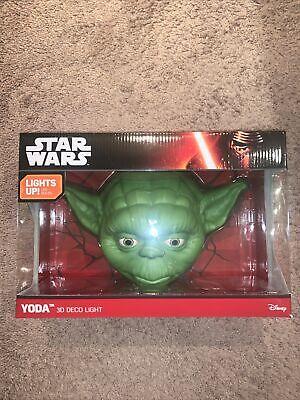 Star Wars Yoda 3D Deco Light NEW in Box