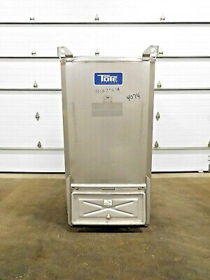Mo-3835 Stainless Steel Tote Bin. 80 Cu Ft.