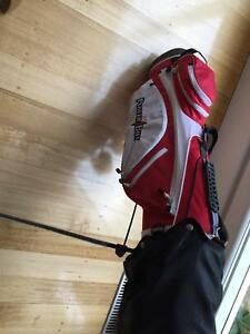 Children's golf clubs, bag and club head covers