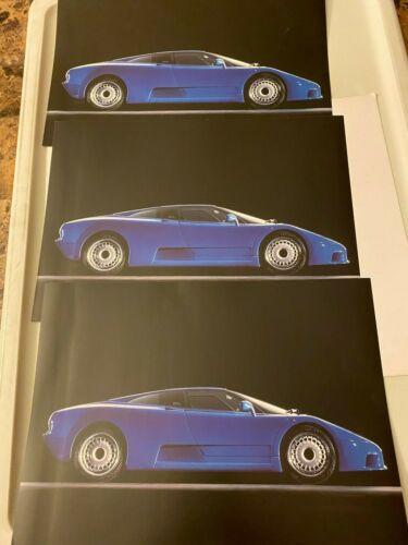 BUGATTI EB110 GT Official 1993-95 Rare Sales Brochure - LOT of 3!
