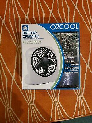 O 2 Cool 5-Inch Portable Fan Desk Travel, Gray Battery Operated new in (O2 Cool 5 Portable Battery Operated Desk Fan)