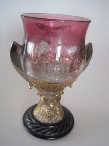 "5"" Masonic Goblet St. Paul MN Pittsburg PA 1908"