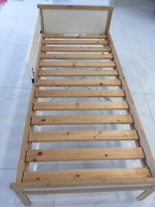 IKEA Sniglar Bed with Slatted Base and Toddler Rail