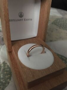 14 k rose gold 3mm comfort fit ring