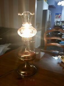 Antique solid copper table lamp