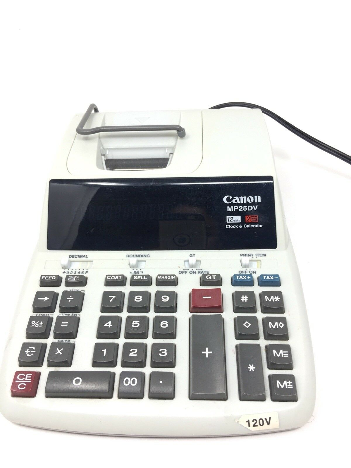 Canon Printing Calculator MP25DV 12-Digit Large Fluorescent Display Characters