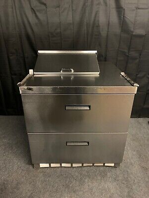 Delfield Ucd4432n-6-dd1 36 Sandwich Prep Table With 2 Drawers Used