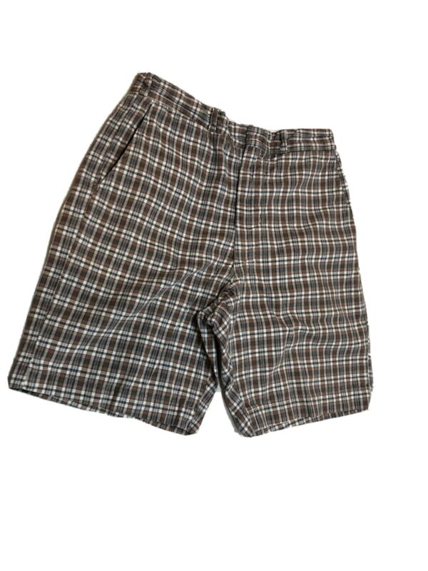"Vintage Boys Shorts 1950s William Tell Brand 24"" waist Plaid cotton"