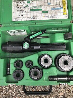 Greenlee 7804sb7806sb Quick Draw Hydraulic Punch Slugbuster Set 12 To 2