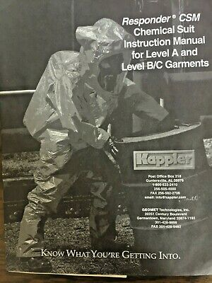 BRAND NEW KAPPLER RESPONDER CSM CHEMICAL SUIT WITH INSTRU MANUAL FOR LEVEL A