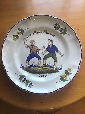 Teller Keramik St Clement Dekor Ein Schnäppchen D'Ehrenzeichen 1745