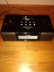 iHome (iH9) Black Ipod Speaker Dock Dual Alarm Clock Radio aux in+out