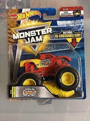 Hot Wheels Monster Jam 1:64 CAROLINA CRUSHER 2018 W/Crushable Car Brand New HTF