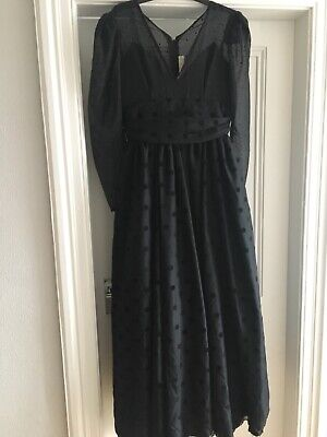 Womens Vintage Victorian Halloween Costume Gothic Witch Fancy Dress Size 12-14