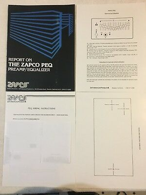 Car Amp Wiring Diagram - ZAPCO - PEQ EQUALIZER - SET-UP AND WIRING DIAGRAM - HIGH QUALITY COPY!