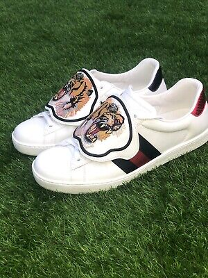 Gucci Ace Trainers With Lion Patch