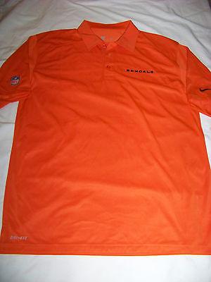 3788427e5 Nike DriFit Men's On Field Apparel Cincinnati Bengals Polo Shirt NWT Medium