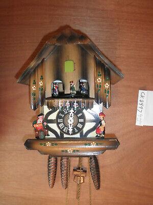 Cuckoo Clock Black Forest Scnmeckenbecher SEE VIDEO Musical Chalet 1 Day CK2497 Black Forest Chalet Cuckoo Clock