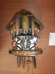 Cuckoo Clock Black Forest Scnmeckenbecher SEE VIDEO Musical Chalet 1 Day CK2497