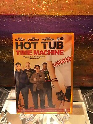 Hot Tub Time Machine DVD 2010 Comedy - Funny Unique Orange Case. Very Nice! (Hot Funny Movies)