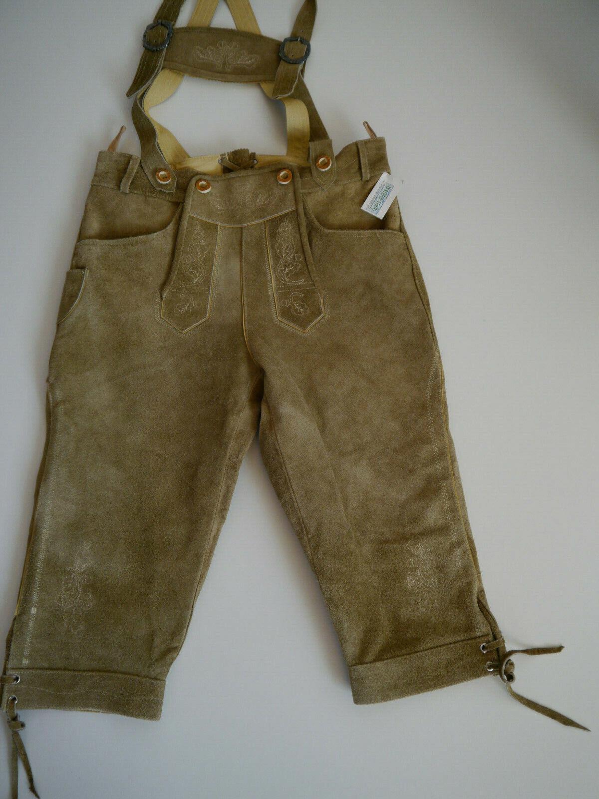 Original Trachten - Kniebundhose Fb. nuss 100% echtes Leder Gr. 44 - 60 NEU