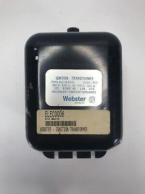 Webster 812-6a010 Ignition Transformer 120v Excellent