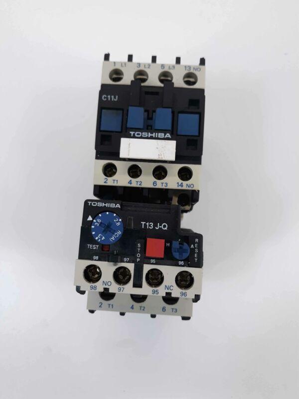 Toshiba C11J Contactor 110v Coil w/ T13 J-Q Overload Relay 2.8-4.3A