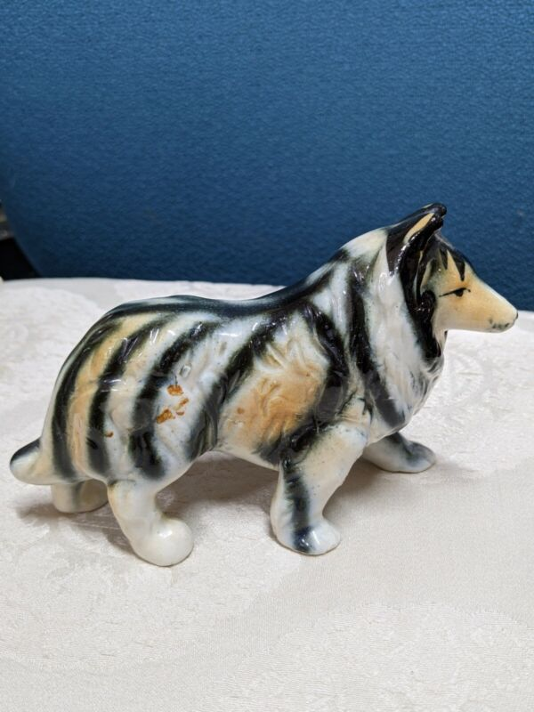 Vintage collie dog figurine