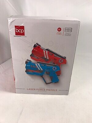 NEW GENUINE Best Choice Set of 2 Blaster Laser Tag Toys with Vests Red/Blue
