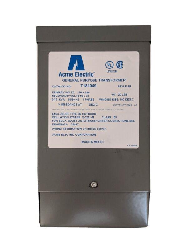 Acme Electric T181059 750VA Buck Boost Transformer
