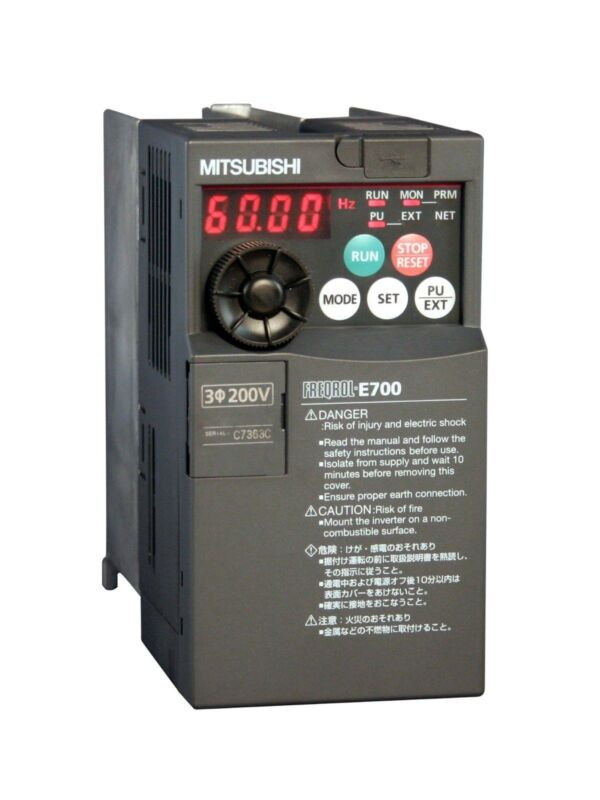 20hp 460v 3-phase Mitsubishi E700 Vfd, Drive, Fr-e740-300sc-na Fre740300scna