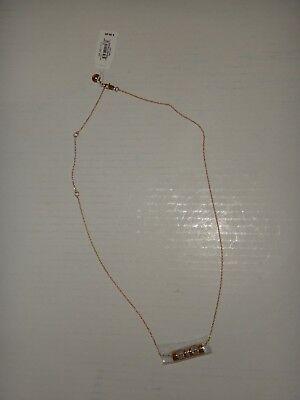 Michael Kors Women's Outlets Gold Tone Necklace Crystals Big Cylinder MKJ6211710