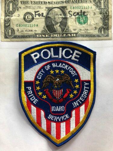 Blackfoot Idaho Police Patch Un-sewn in great shape