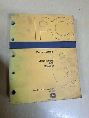 John Deere 762 Scraper Parts Catalog