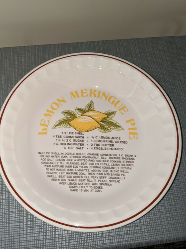 Lemon Meringue Pie Recipe Plate Dish Hankook Oven Safe