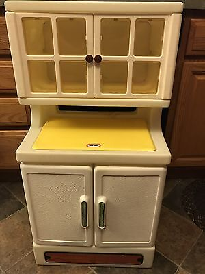 Vintage Little Tikes Child Size Kitchen Cabinet Hutch Pantry