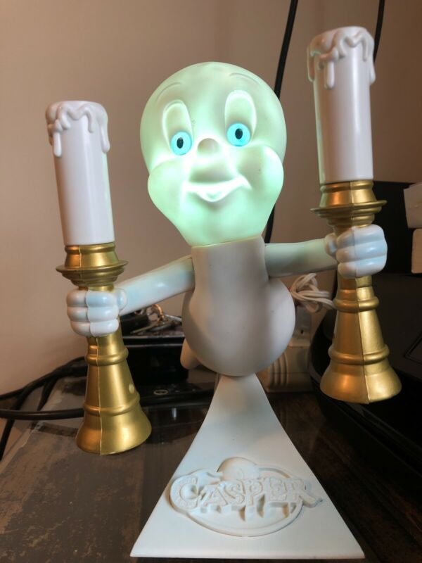Vintage Glowing Casper the Friendly Ghost Lamp Candle light Halloween Horror