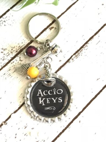 Accio Keys Keychain, Choose your house colors, Harry Potter Inspired Keychain