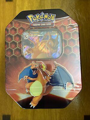 Pokemon TCG Charizard Hidden Fates Tin GX Factory Sealed!!!
