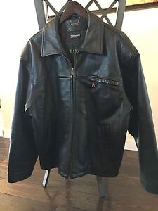 Men's Black Genuine Leather jacket--Danier